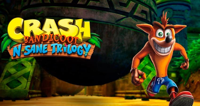 Crash Bandicoot n sane trilogy game for Playstation 4